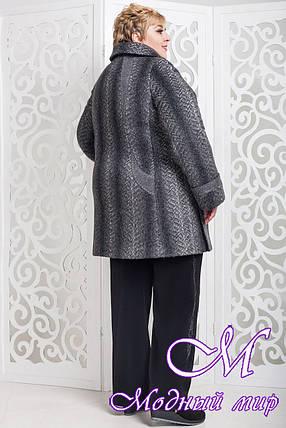 Осеннее женское пальто больших размеров (р. 62-72) арт. 587 Emme Тон 108, фото 2
