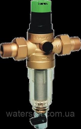 Фильтр механической очистки с регулятором давления Honeywell FK06 3/4AA, фото 2