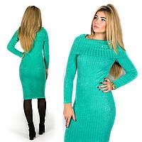 Бирюзовое платье 15587