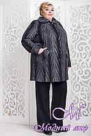 Шерстяное женское пальто больших размеров (р. 62-72) арт. 587 Emme Тон 114
