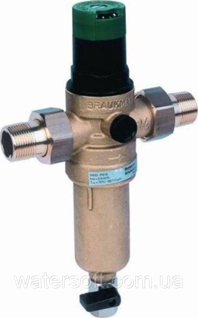 Фильтр механической очистки с регулятором давления для горячей воды Honeywell FK06 3/4AAM