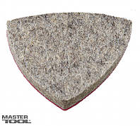 Насадка треугольная войлочная тонкошерстная на липучке для реноватора 85 мм, 10 шт Mastertool 08-649