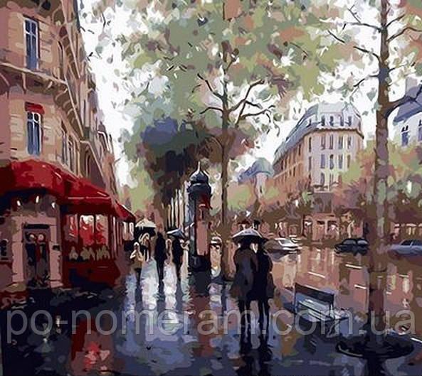 Картина по номерам Mariposa Дождливый день худ Папроки ...  Дождливый Город Картина
