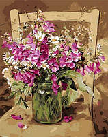 Картина по цифрам Mariposa Душистый горошек Худ Коттерил Анне (MR-Q1051) 40 х 50 см