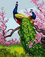 Холст по номерам Mariposa Павлины на ветке сливы (MR-Q1189) 40 х 50 см