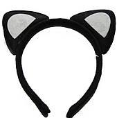 Ушки кошки черные с белым 250216-348