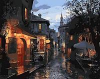 Раскраска на холсте Mariposa Тихая улочка Худ Лушпин Евгений (MR-Q1307) 40 х 50 см