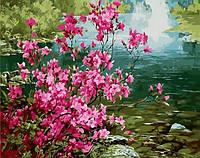 Картина по цифрам Mariposa Куст миндаля Худ Ли Сон Хо (MR-Q1276) 40 х 50 см