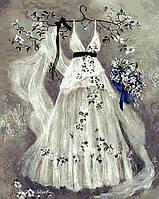 Раскраска на холсте Mariposa Платье невесты (MR-Q417) 40 х 50 см