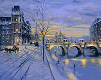Раскраска на холсте Mariposa Париж зимой Худ Финале Роберт (MR-Q646) 40 х 50 см