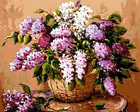 Раскраска по номерам Mariposa Букет сирени в корзине Худ Валевская Валентина (MR-Q826) 40 х 50 см