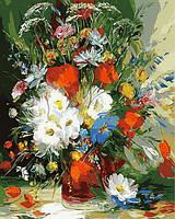 Рисование по номерам Mariposa Летний букет Худ Сергеев Александр (MR-Q862) 40 х 50 см