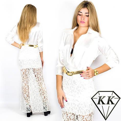 Белое платье 152051 , фото 2