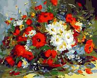 Раскраска по номерам Mariposa Маки и ромашки Худ Сергеев Александр (MR-Q910) 40 х 50 см