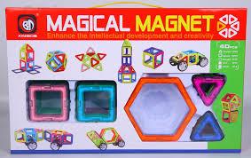 Детский 3D конструктор магнитный Magical Magnet 20 (Меджикал Магнет 40 деталей)