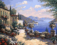 Набор для рисования на холсте MR-Q613 Итальянская набережная Худ Биглер Рене (40 х 50 см) Mariposa