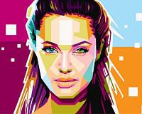Рисование по номерам DIY Babylon Анжелина Джоли (VP608) 40 х 50 см