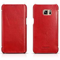 Чехол Icarer Vintage Series для Samsung Galaxy S6 Edge Plus красный, фото 1