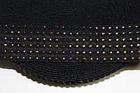 Резинка декоративная 50мм. черный+золото , фото 1