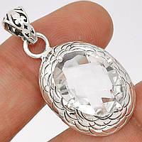 Горный хрусталь серебро 925, кулон, 068ПК