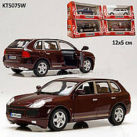 "Машина метал.""kinsmart"" kt5075w (96шт/4)""porsche cayenne turbo"" в кор. 16*8,5*7,5см"