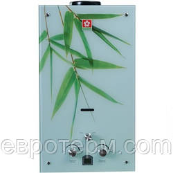Газова колонка Sakura Samurai Бамбук ( скло ) LCD 20 квт. 10 л/хв.