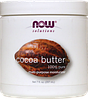 Масло какао 100% натуральное, 207 мл, Now Foods, Solutions, Cocoa Butter