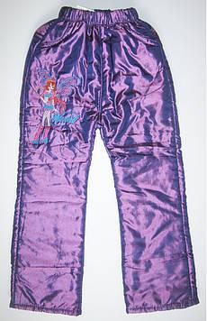 Детские теплые брюки на флисе для девочки