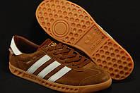 Коричневые мужские кроссовки Adidas Hamburg с технологией  GORE-TEX