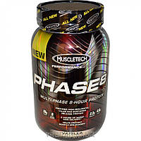 Muscletech, Performance Series, Phase8, Multi-Phase 8-Hour Protein, Vanilla, 2.0 lbs (907 g)