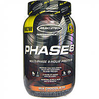 Muscletech, Performance Series, Phase8, Multi-Phase 8-Hour Protein,  Milk Chocolate, 2.00 lbs (907 g)