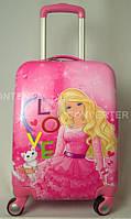 """Детский чемодан 18"""" на 4 колесах Barbie"""