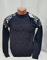 Нарядный вязаный свитер для мальчиков Udi Kids Снежинки