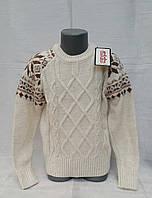 Вязаный свитер на мальчиков Udi Kids Снежинки