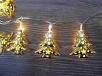 Новогодняя гирлянда Елка Золотая 20 ламп 3 м