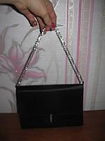 Черная тканевая сумочка, клатч
