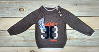 Теплая кофточка свитер на мальчика 86-92 см, 92-98 см, 98-104 см