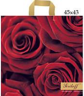 Пакет Серикофф розы 45х43см, уп 25шт.