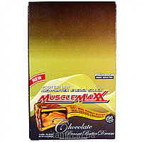 MuscleMaxx, High-Protein Energy Snack, Protein Bar, Chocolate Peanut Butter Dream, 12 Bars, 2 oz (57 g)