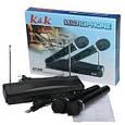 Комплект профессиональных микрофонов K&K AT-306 с радиобазой, фото 3