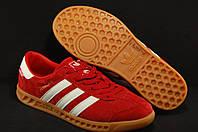 Красные мужские кроссвки Adidas Hamburg с технологией  GORE-TEX