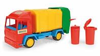 """Машина """"Мусоровоз"""" """"Middle truck"""" в слюде 27*12см, ТМ Wader (22шт)"""