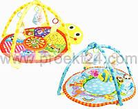 Детский игровой коврик с погремушками