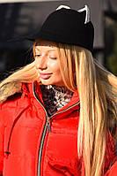 Стильная женская фетровая шляпка с ушками