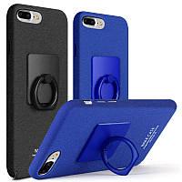 Пластиковый чехол Imak с кольцом-подставкой для Apple iPhone 7 Plus (2 цвета)