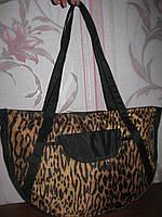 Леопардовая сумка плащевка