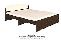 Кровать двуспальная Астория Дсп венге темный + дуб молочный Эверест