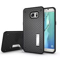 Чехол Dot 2 in 1 с подставкой для Samsung Galaxy S6 Edge Plus черный, фото 1