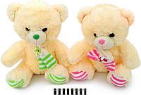 """Мягкая игрушка """"мишка с шарфом"""" 3270\40, музыкальный, 2-цвета, размер: 40 см"""