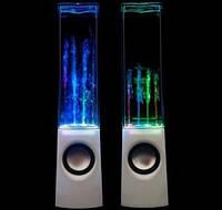 Колонки с танцующим световым эквалайзером в виде водяного фонтана